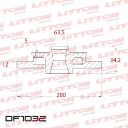 DISCO DE FRENO SOLIDO TRASERO 280mm - BD6768